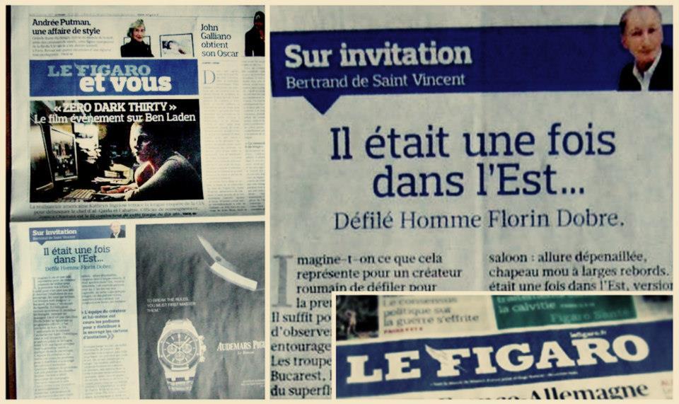florin dobre aparitie in Le Figaro