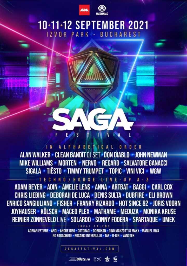 lista artisti SAGA Music Festival