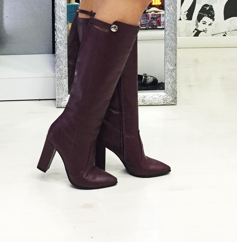 cizme lungi marsala Creative shoes