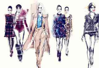 ilustrații de modă